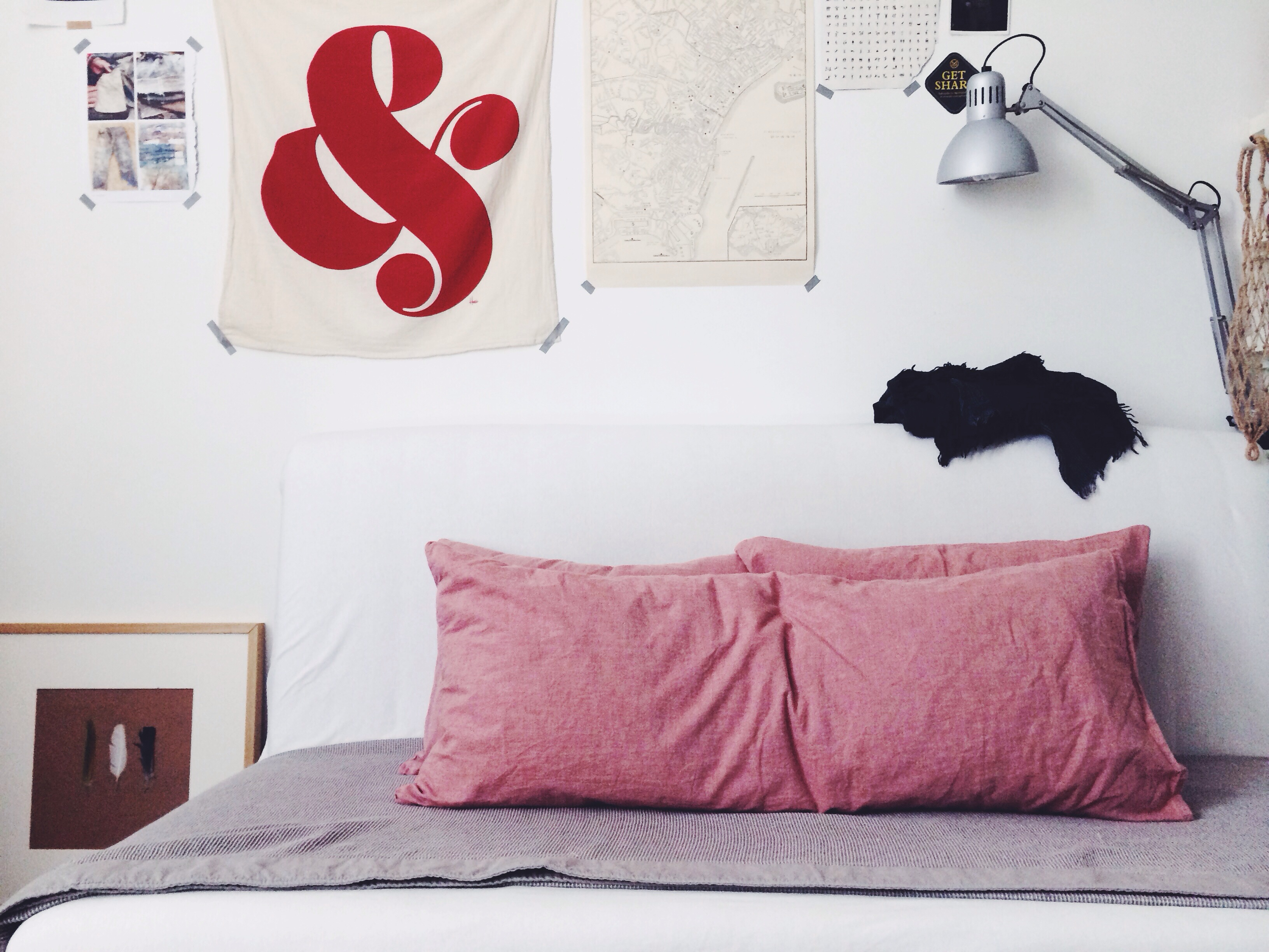 My IKEA PS HÅVET Sofa Bed Is Adorn By Pillows And Blanket From MUJI. The